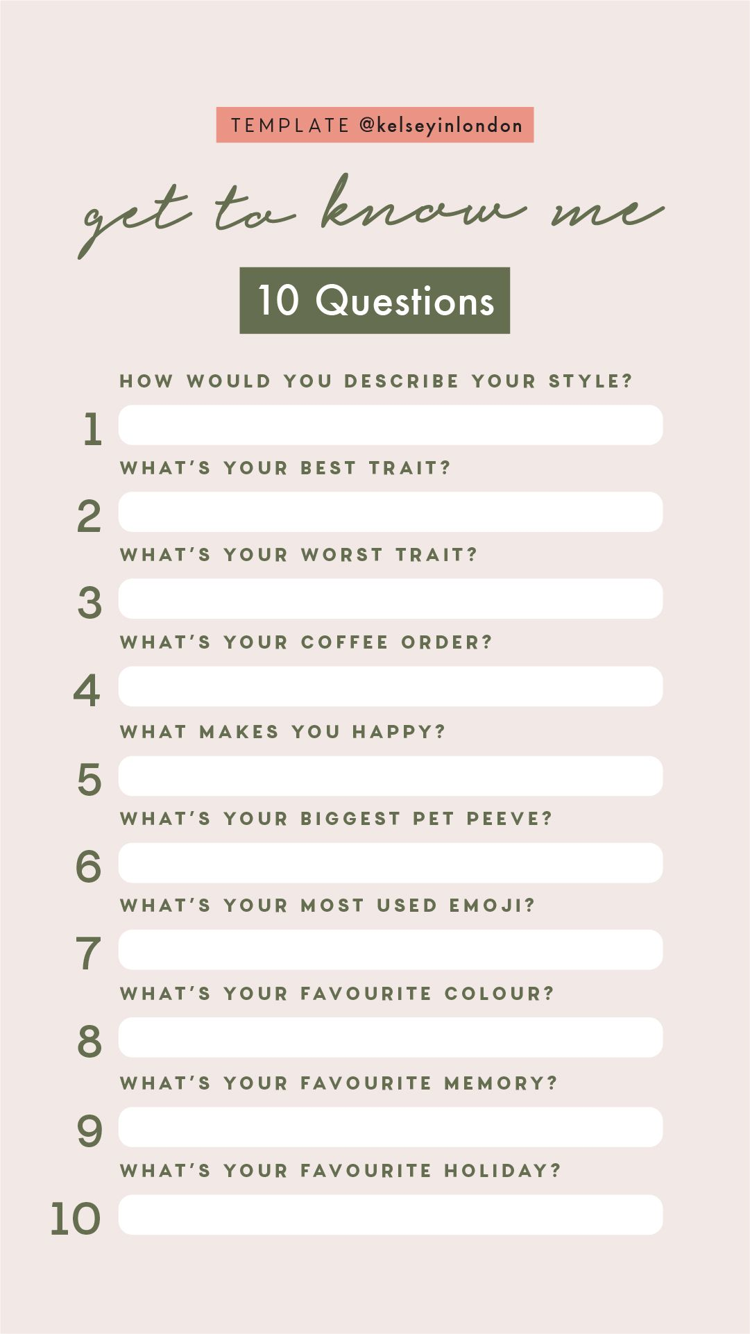 Instagram Story Template Get To Know Me About Me Template This Or That Questions Instagram Story Questions Instagram Questions