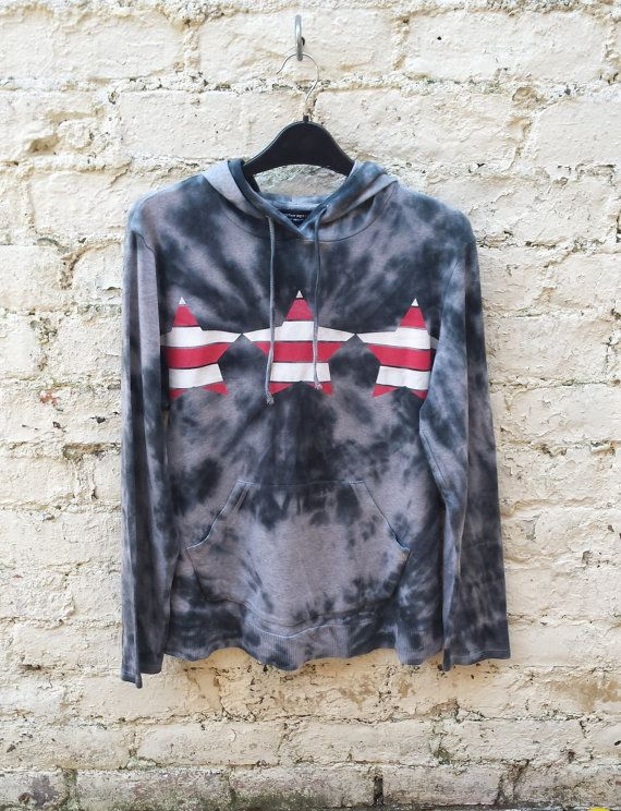 Tie Dye Hoodie Stars & Stripes to fit UK size 20 or US size 16 ...