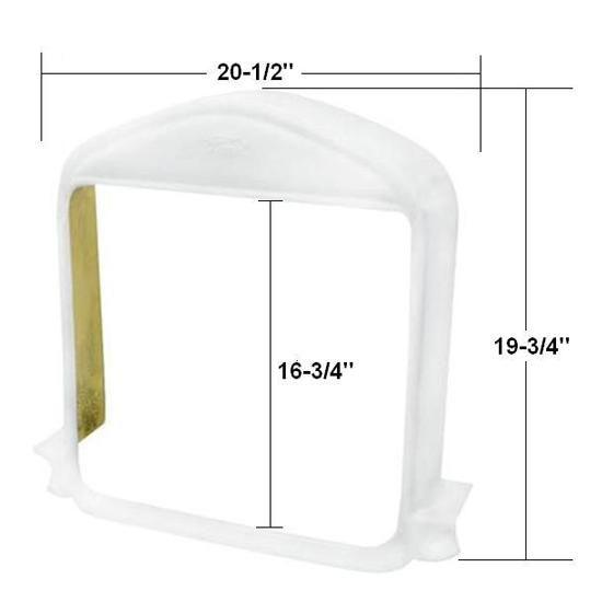 Extra Deep Fiberglass Model T-Bucket Radiator Grille Shell