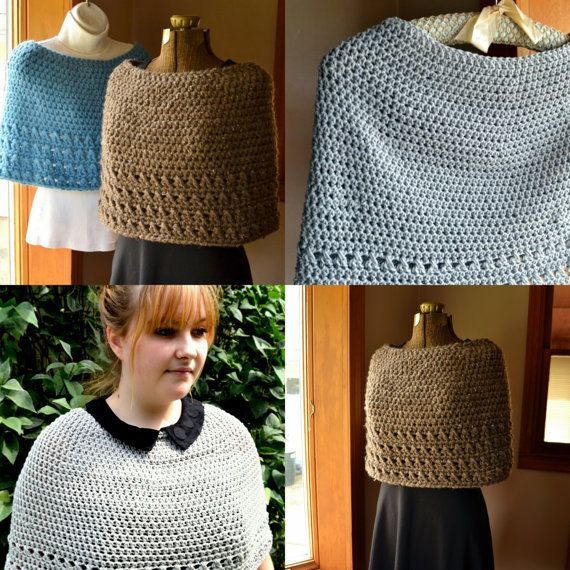 Crochet Pattern Summer or Winter Capelet by LazyTcrochet | manos ...