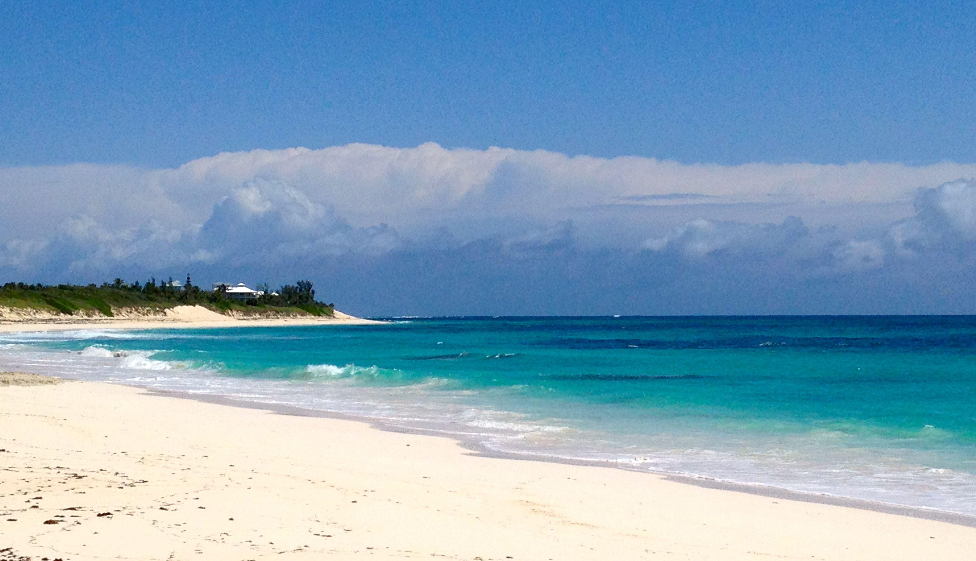 Beach behind methodist church in hope town elbow cay bahamas