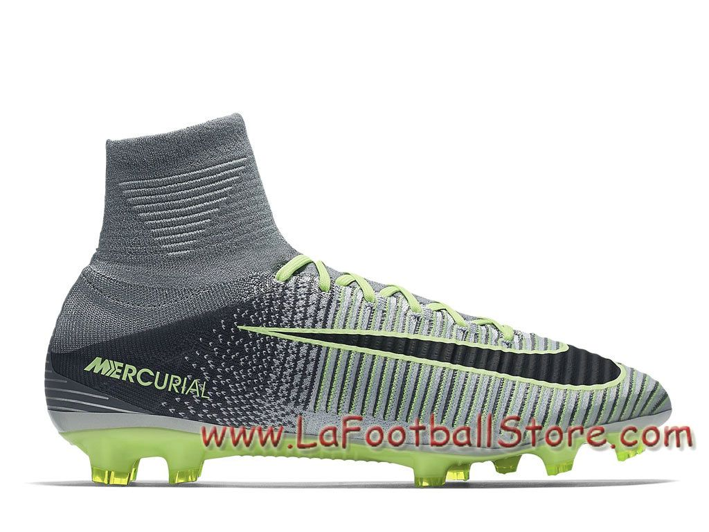 competitive price 8126a 0a039 Nike Mercurial Superfly V FG Chaussure Nike Prix de football à crampons pour  terrain sec pour FemmeEnfant Green Glow