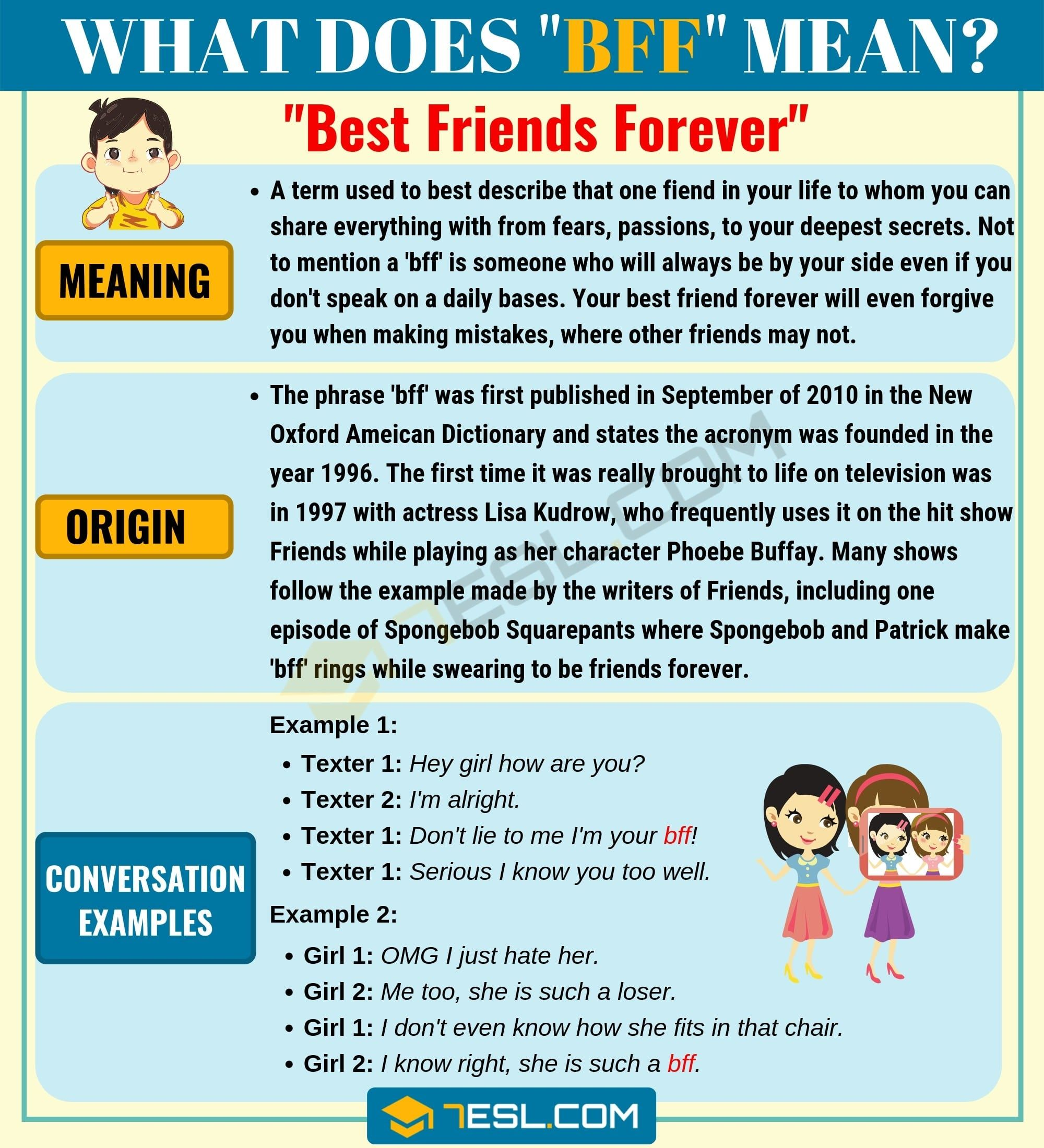 Bff Meaning What Does Bff Mean And Stand For Bff Meant To Be