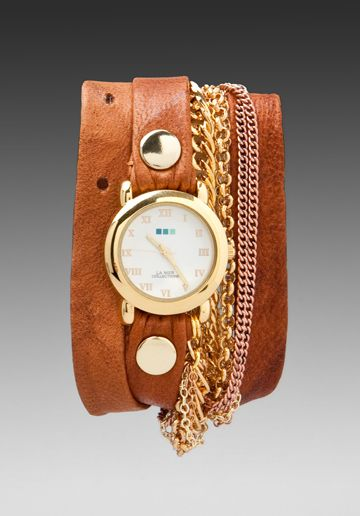 LA MER Arizona Chain Watch in Brown/Gold at Revolve Clothing - Free Shipping!