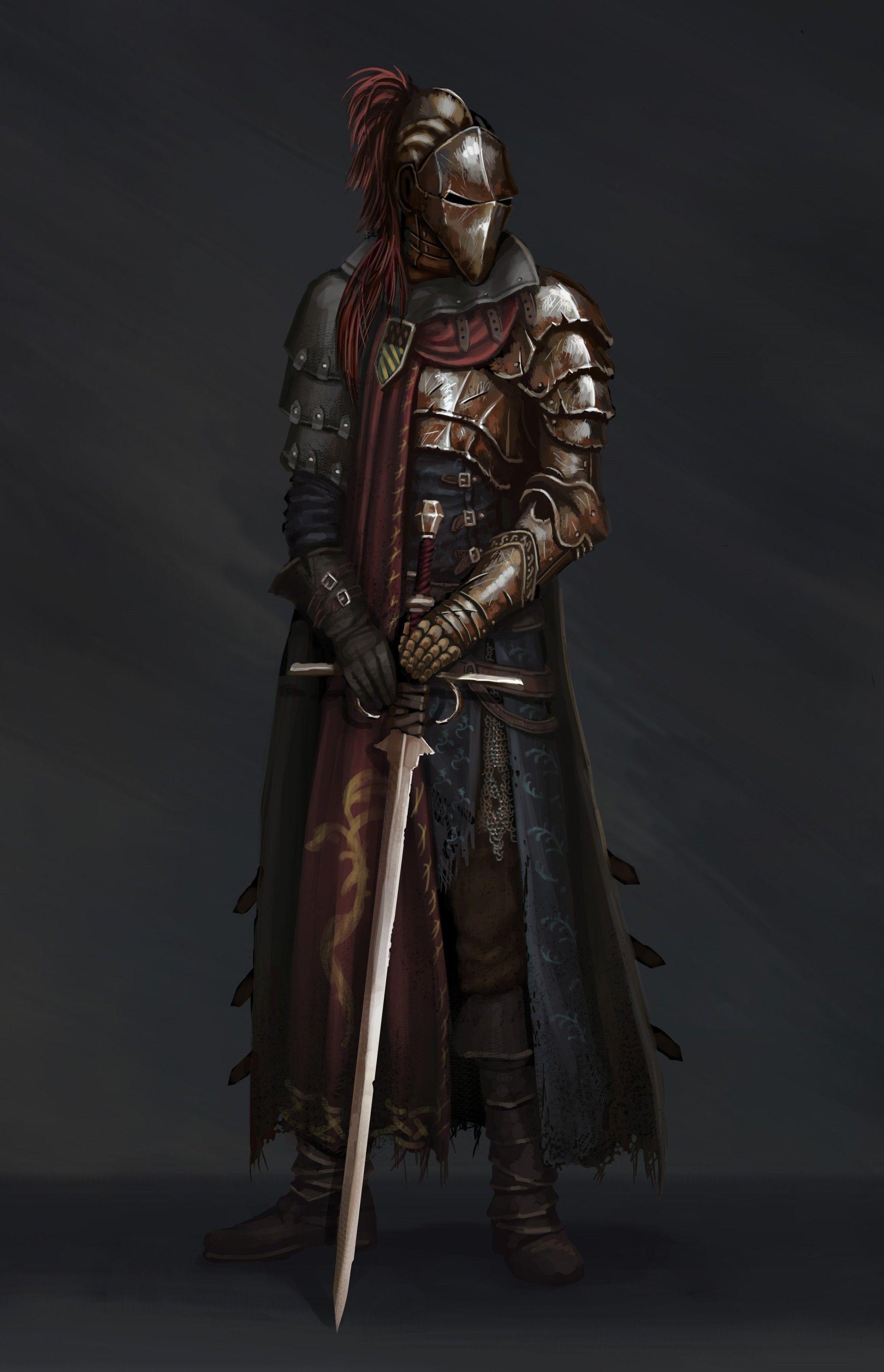 Knight Dmitry Chertkov Fantasy Armor Fantasy Character Design Concept Art Characters