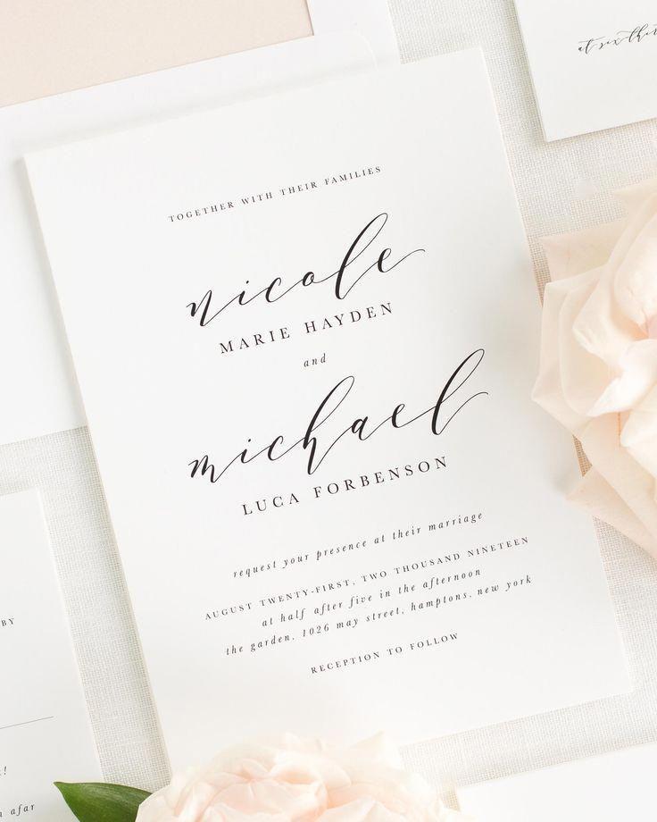 Photo of Nicole Wedding Invitations