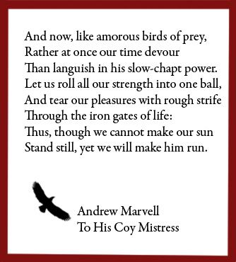 the strong metaphysical lines in the flea by john donne and to his coy mistress by andrew marvell Andrew marvell and john donne were both metaphysical poets who did not write for money, but for pleasure  to his coy mistress and the flea  andrew marvell and .