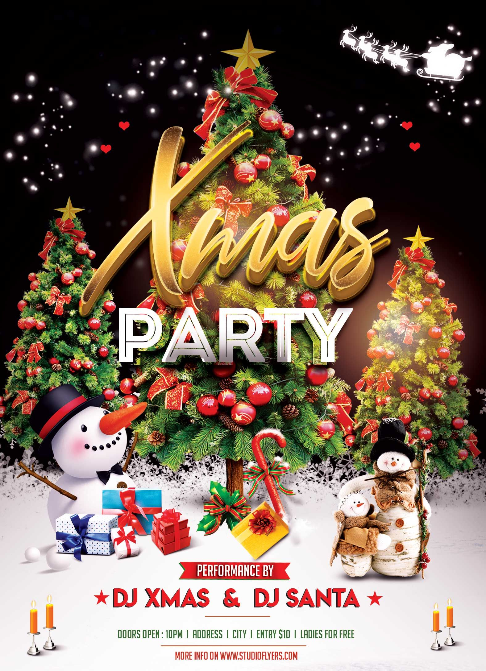 Xmas Event Night Psd Free Flyer Template Free Psd Flyer Templates Free Psd Flyer Free Flyer Templates