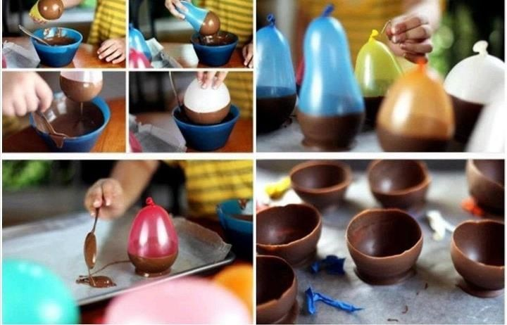 Looks easy enough to make a chocolate bowl.