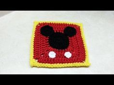 #Crochet Mickey Mouse Granny Square #TUTORIAL, My Crafts and DIY Projects