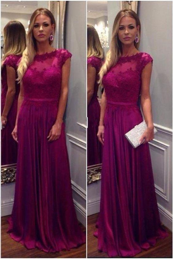5ed364c625 Fashion A-line Long Prom Dress Semi Formal Dresses Wedding Party Dress LP134