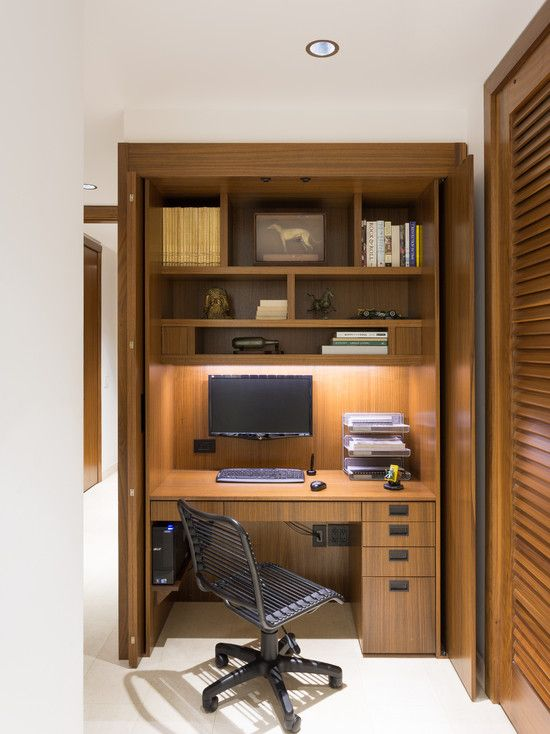 Modern Home Office Design Ideas Pictures Remodel And Decor Closet Office Home Office Design Home
