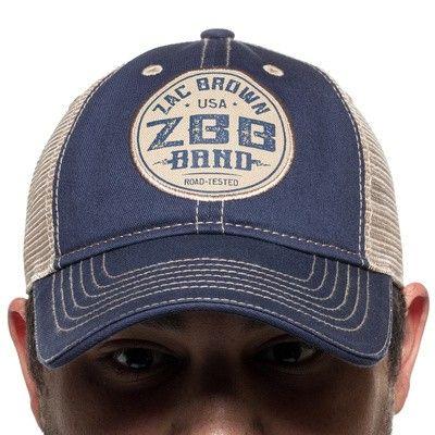 Zbb Road Tested Trucker Hat Zac Brown Band Store Trucker Hat Hats Trucker