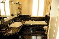 Bagni In Marmo Nero : Bagno in marmo nero portoro marble interiors pinterest marmi