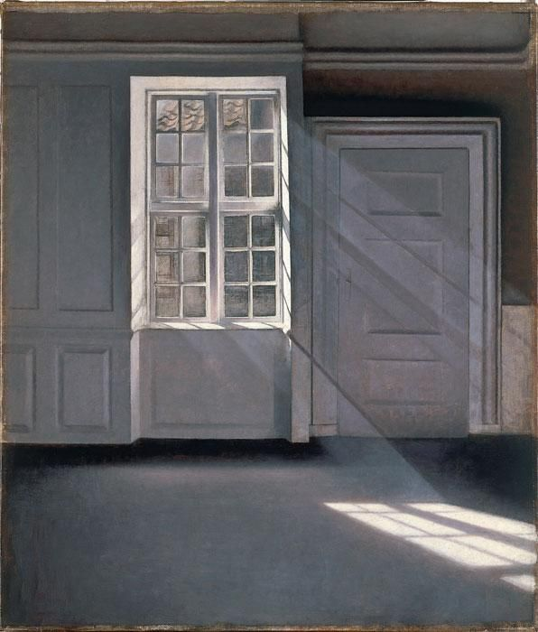Sunbeams or Sunshine. Dust Motes Dancing in the Sunbeams  1900  by Vilhelm Hammershoi