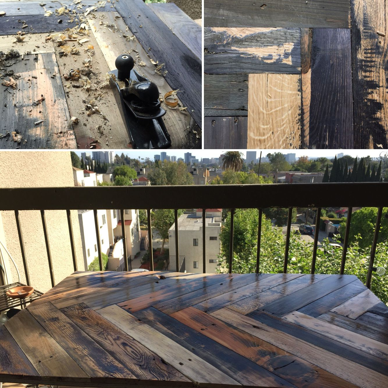Reclaimed pallet table project. Available to order soon on etsy!