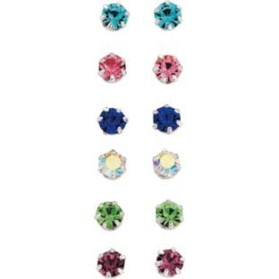 80d8a7f91 Buy Sterling Silver Crystal Stud Earrings - Set of 6 at Argos.co.uk ...