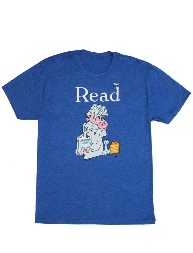 c42a4d2ba26b Look what I found from Out of Print! Elephant and Piggie Read unisex book t- shirt – Out of Print  OutofPrintClothing