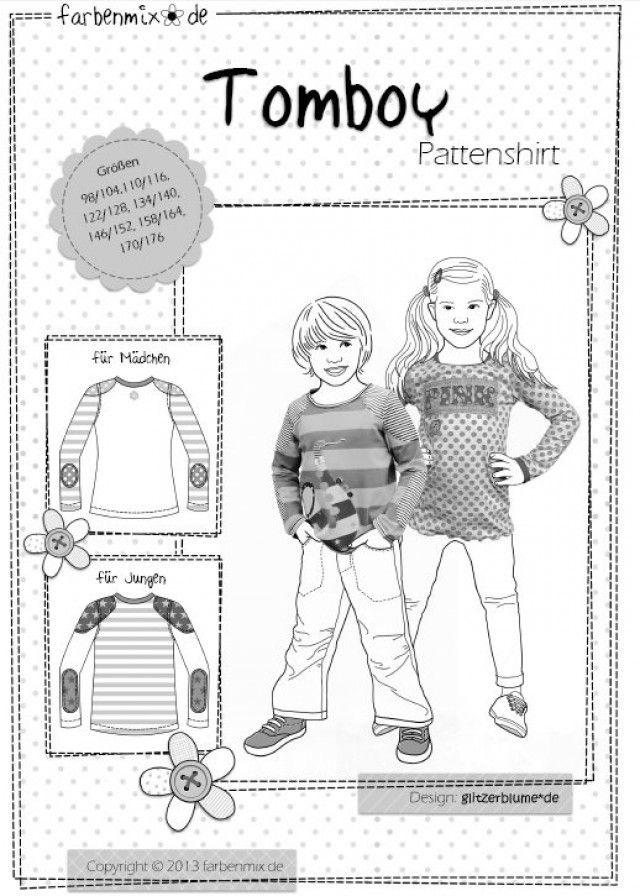 TOMBOY, Pattenshirt, Papierschnittmuster | Patterns