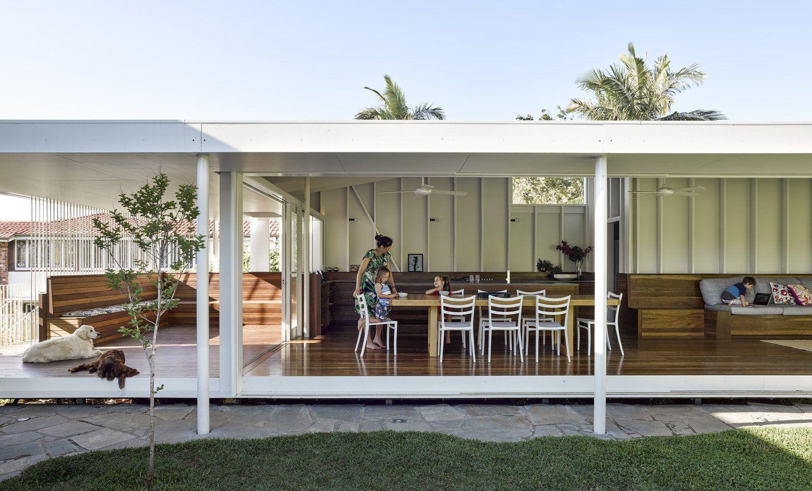 An Extended Garden Pavilion Enhances a 1920s Cottage -   12 modern garden pavilion ideas