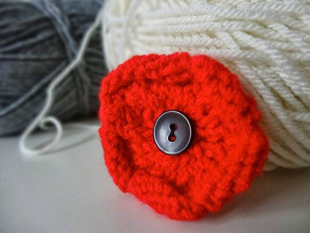 Trends With Benefits Diy Knitted Poppy Knitted Flowers