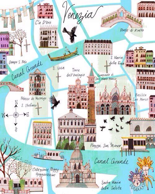 Karte Venedig Karte Venedig Venedig Venedig Urlaub