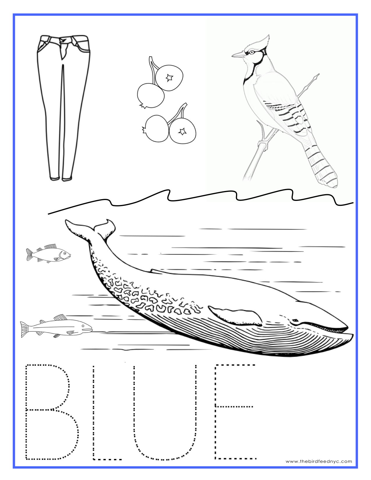 Blue Color Worksheet For Preschool