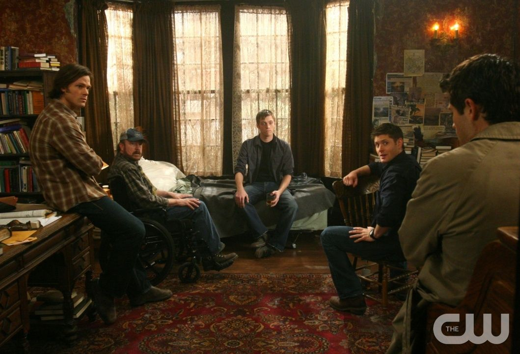 """""""Point of No Return"""" - Pictured (L-R) Jared Padalecki as Sam, Jake Abel as Adam Milligan, Jensen Ackles as Dean and  Misha Collins as Castiel  in SUPERNATURAL on The CW. Photo: David Gray/The CW �2010 The CW Network, LLC. All Rights Reserved.pn"""