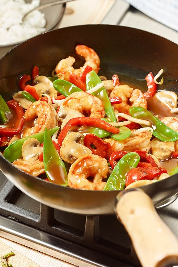 Photo of Shrimp wok with Asian vegetables maggi.de