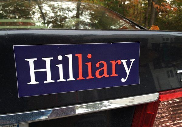 10 funny anti hillary bumper stickers
