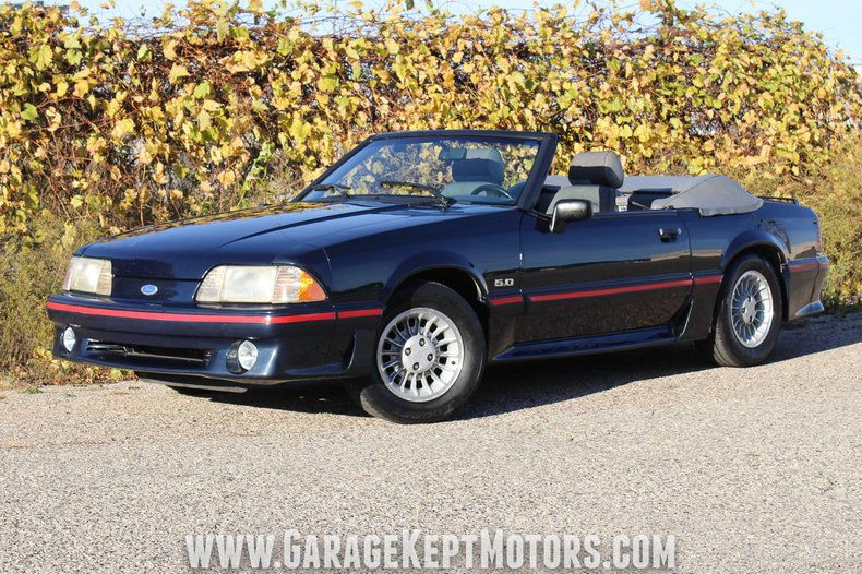 Us Deals Cars 1988 Ford Mustang Gt Convertible 1988 Ford Mustang Gt Convertible Dark Shadow Blue Convertible 5 0l V8 147 667 Ford Mustang Gt Mustang Mustang Gt