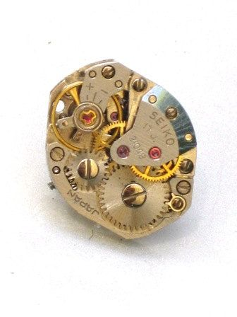 Steampunk - Vintage Watch Movement Tie Pin - Cogs Wheel Face - Neo Vicotirian - By GlazedBlackCherry