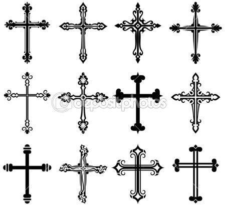 collection design croix religieuse illustration 11451636 religions et croyances tatouage. Black Bedroom Furniture Sets. Home Design Ideas