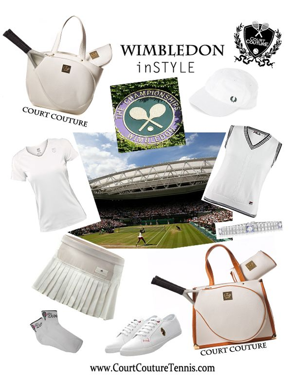 Wimbledon In Style By Court Couture Tennis Bag