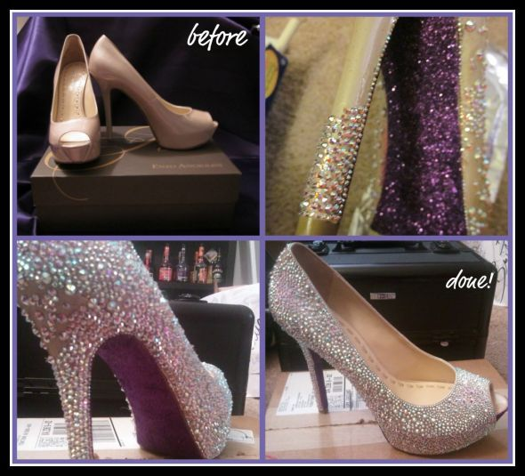 45ffd52a7e70 my FAB diy shoes   wedding crystals diy shoes swarovski Swarovski Shoe
