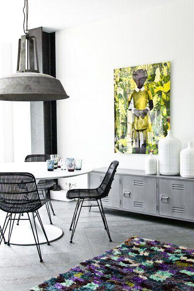 HK Living Meuble TV scandinave industriel bois - blanc - HKLiving Modern  Interieur, Moderne f119cabffa13