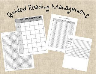 Forms for management of guided reading and writing workshop.