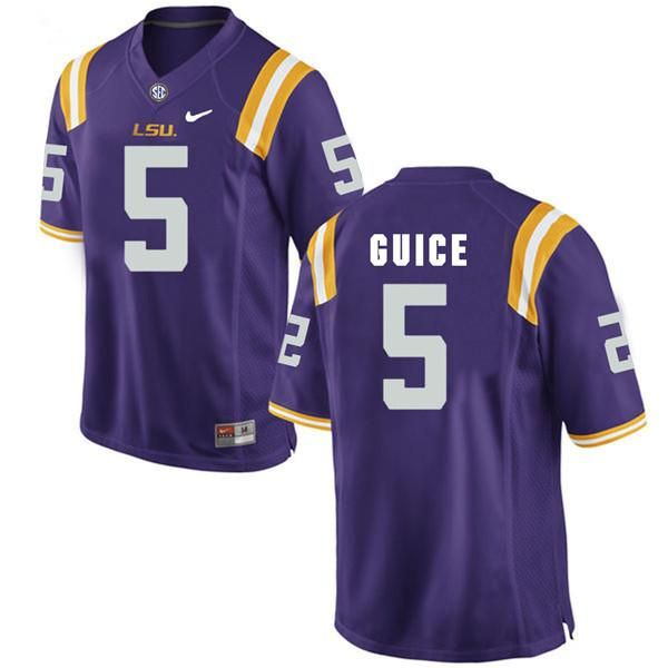 lowest price 99fd4 d4e20 LSU Tigers Derrius Guice #5 College Jersey   Will's House ...