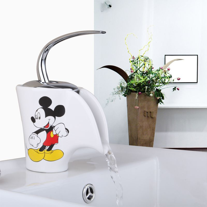 Basin Faucet Torneira Mickey Mouse Ceramic Waterfall Deck