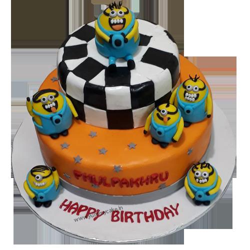 Groovy Minion Cake With Images Minion Birthday Cake Cake Online Cake Personalised Birthday Cards Veneteletsinfo
