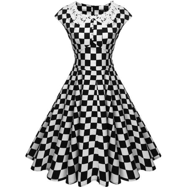 0757f8bb87cd ACEVOG Women s Classy Vintage Audrey Hepburn Style 1940 s Rockabilly ...