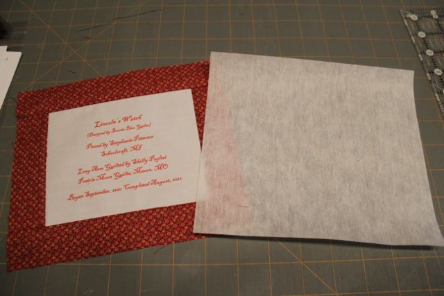 How to attach a label to a quilt using iron on interfacing from ... : iron on quilt labels - Adamdwight.com