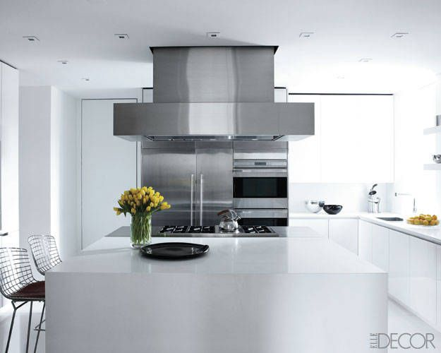 Ralph Lauren Interior Design - Ralph Lauren Home Decor - White gloss kitchen and wide island