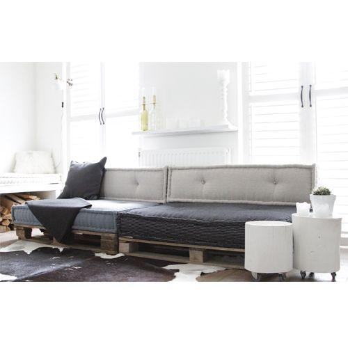 Matraskussens lounge 120x80 cm ZWART WIT Atelier Kamer26