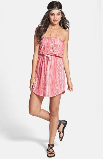 44d4df94a385e Billabong  Crashing Waves  Ikat Strapless Dress (Juniors) Trendy Fashion