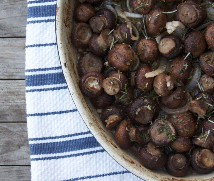 Roasted Mushrooms, Truffled and Herbed Recipe
