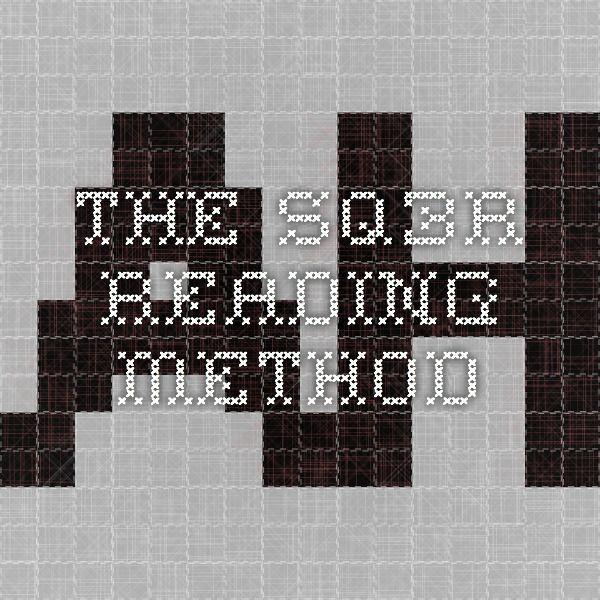 The SQ3R Reading Method | School | Pinterest