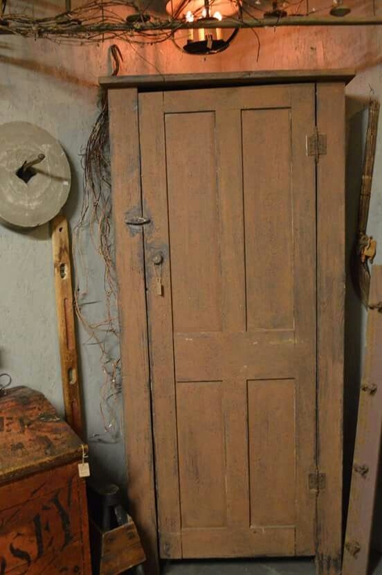 MUSTARD Chimney cupboard AT Homestead Antiques - MUSTARD Chimney Cupboard AT Homestead Antiques Primitive