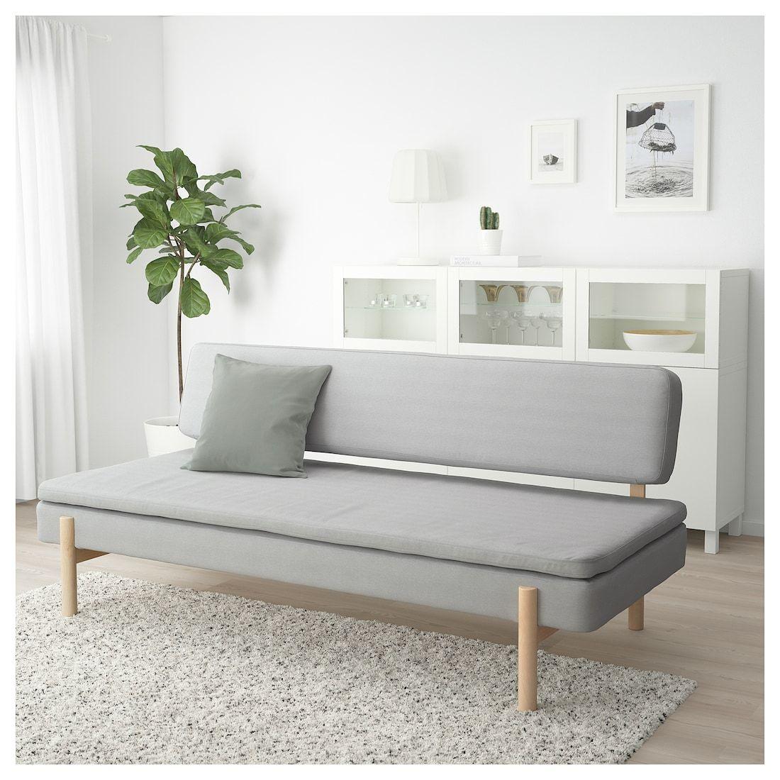 Ypperlig Canape Lit 3 Places Orrsta Gris Clair Ikea Matelas A Ressorts