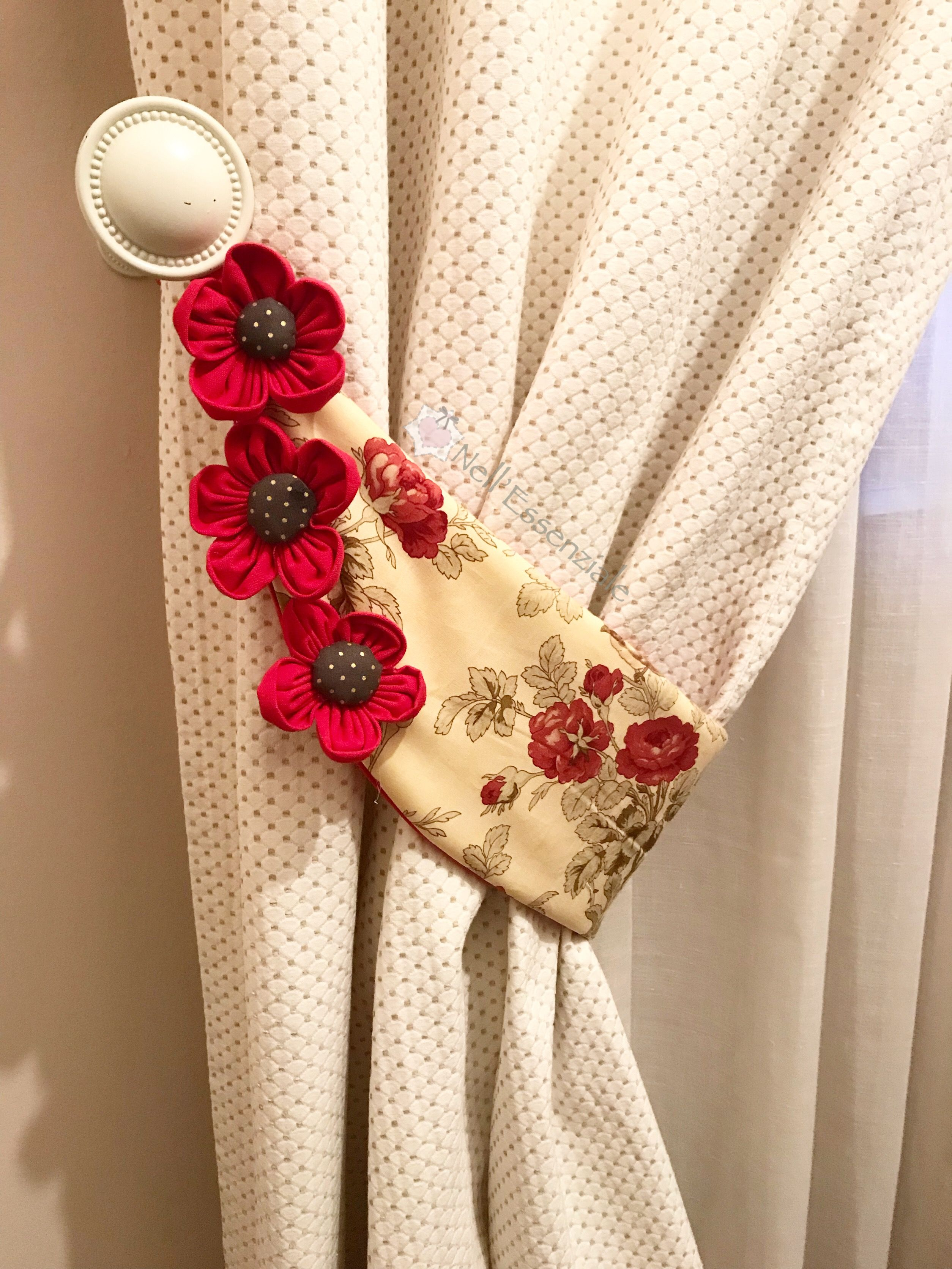 Come fare un embrasse per tende in stoffa | Creative ...